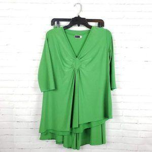 Sympli Green Asymmetrical Top Pant Set